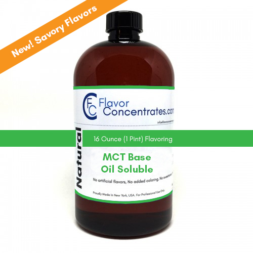 Natural MCT Savory Flavors 16 Ounces - MCT Based