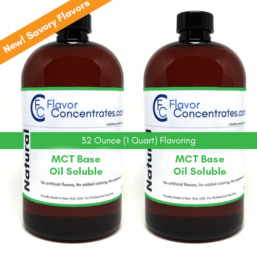 Natural MCT Savory Flavors 32 Ounces - MCT Based