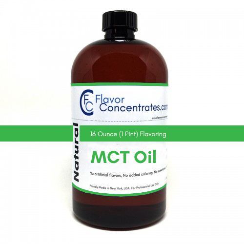 Natural MCT Flavor 16 Ounces - MCT Base Oil Soluble