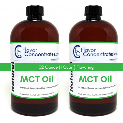 Natural MCT Flavor 32 Ounces - MCT Base Oil Soluble
